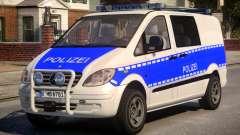 Mercedes Benz Vito German Police для GTA 4