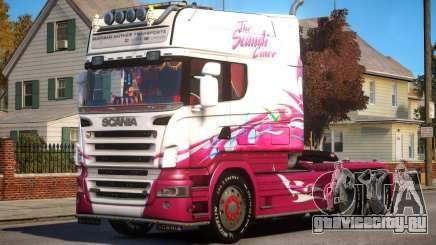Scania R580 Longline Custom PJ2 для GTA 4