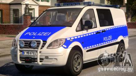 Mercedes Benz Vito German Police для GTA 4