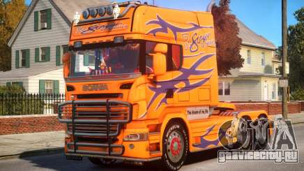 Scania R580 Longline Custom P10 для GTA 4