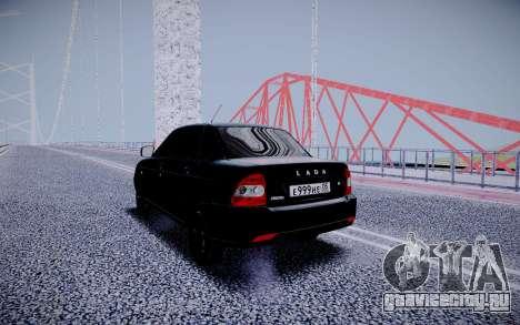 Lada Priora Black Edition для GTA San Andreas вид сзади слева