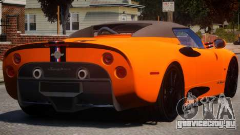 Spyker C8 Aileron Spyder PJ1 для GTA 4 вид справа