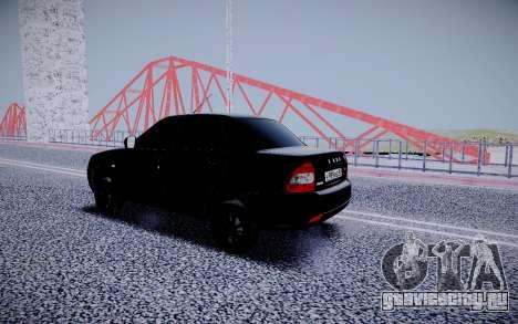 Lada Priora Black Edition для GTA San Andreas вид сзади
