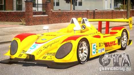 Porsche RS Spyder PJ1 для GTA 4