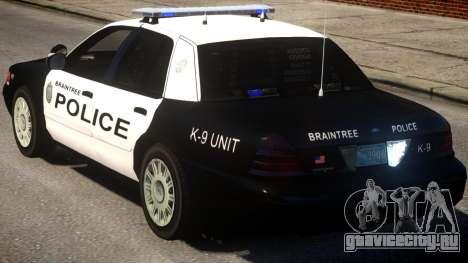 Braintree K9 Police для GTA 4 вид сзади слева