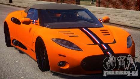 Spyker C8 Aileron Spyder PJ1 для GTA 4 вид изнутри
