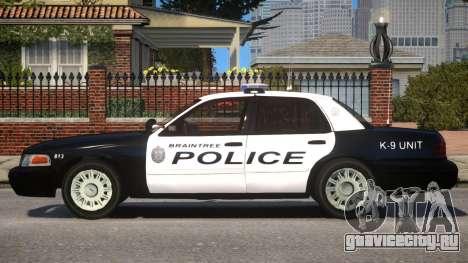 Braintree K9 Police для GTA 4 вид слева