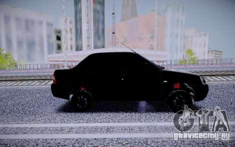 Lada Priora Black Edition для GTA San Andreas вид слева