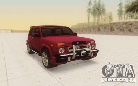 Niva 2121 Urban для GTA San Andreas вид сзади