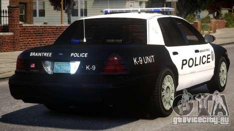 Braintree K9 Police для GTA 4 вид справа
