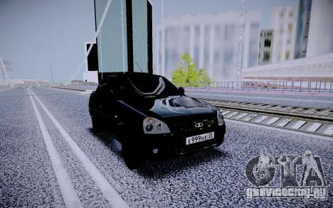 Lada Priora Black Edition для GTA San Andreas вид справа