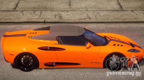 Spyker C8 Aileron Spyder PJ1 для GTA 4 вид сзади