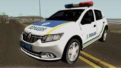 Renault Sandero 2013 Полиция Украины для GTA San Andreas