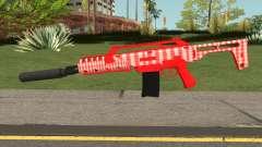 GTA Doomsday Heist Special Carbine Mk.2 Red для GTA San Andreas