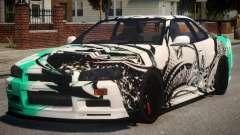 Nissan Skyline GT-R R34 PJ4 для GTA 4