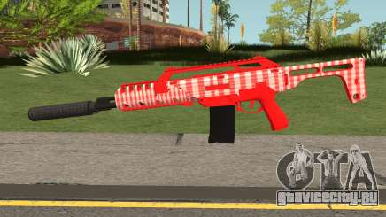GTA Doomsday Heist Special Carbine Mk.2 Red для GTA San Andreas