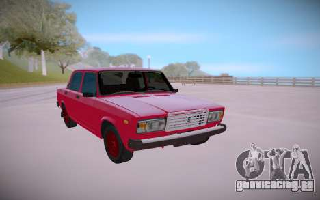 ВАЗ 2107 Сток Красный для GTA San Andreas