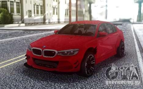 BMW M5 F90 Red Sedan для GTA San Andreas
