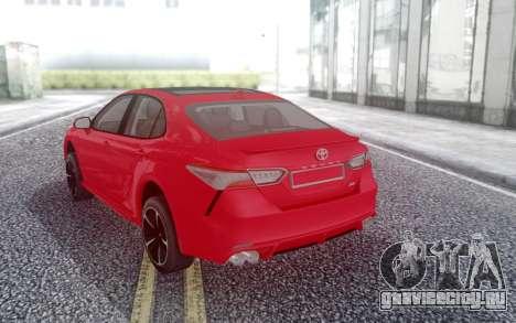 Toyota Camry v70 XSE 2018 для GTA San Andreas