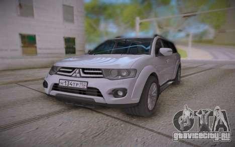 Mitsubishi Pajero Sport для GTA San Andreas вид сзади