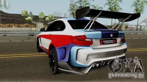 BMW M2 Special Edition From Asphalt 8: Airbone для GTA San Andreas вид сзади слева