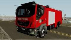 Iveco Trakker Pompieri - Romanian Firetruck для GTA San Andreas