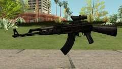 AK47 Black для GTA San Andreas