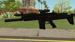 SCAR-H-A1 BLACK для GTA San Andreas