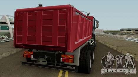 Iveco Trakker Dumper 6x4 для GTA San Andreas вид справа