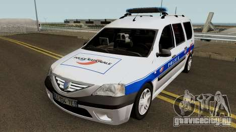 Dacia Logan MCV - Police Nationale 2004 для GTA San Andreas