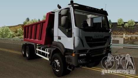 Iveco Trakker Dumper 6x4 для GTA San Andreas вид изнутри