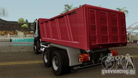Iveco Trakker Dumper 6x4 для GTA San Andreas вид сзади слева