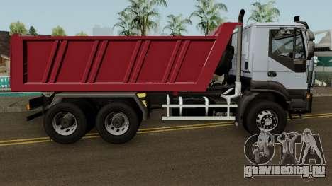 Iveco Trakker Dumper 6x4 для GTA San Andreas вид сзади