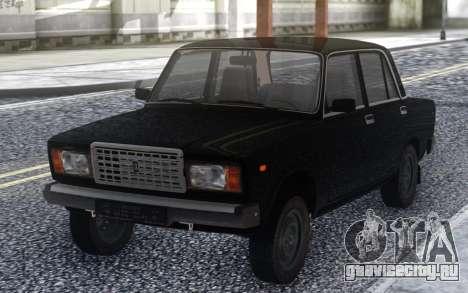 ВАЗ 2107 Черный Стоковый для GTA San Andreas