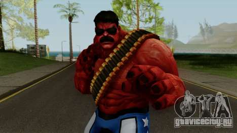 MFF Red Hulk USA Avengers для GTA San Andreas