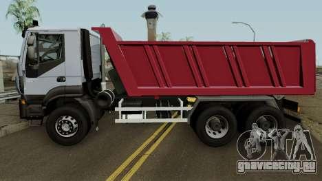 Iveco Trakker Dumper 6x4 для GTA San Andreas вид слева