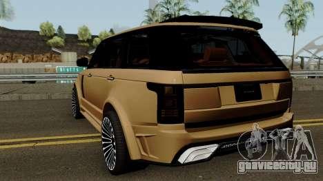 Range Rover Mansory Autobiography LWB для GTA San Andreas