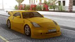 Nissan 350Z Yellow Tuning для GTA San Andreas
