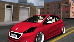 Peugeot 208 GTI black STANCE для GTA San Andreas