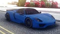 Porsche 918 Spyder Blue для GTA San Andreas