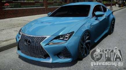 Lexus RC F для GTA 4