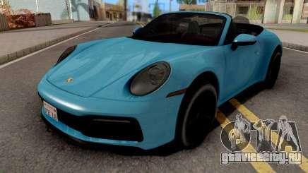 Porsche 911 Carrera 4S Cabriolet 2020 для GTA San Andreas