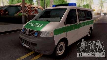 Volkswagen Transporter T5 Polizei для GTA San Andreas