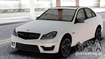 Mercedes-Benz White C63 AMG W204 для GTA San Andreas