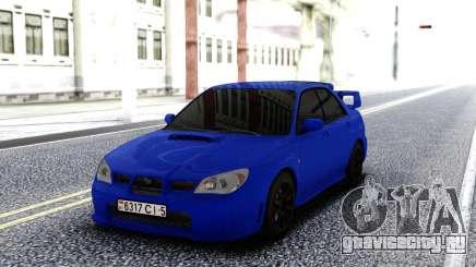 Subaru WRX STI 2004 Blue для GTA San Andreas