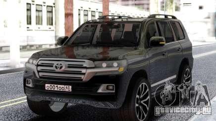 Toyota Land Cruiser 200 Black для GTA San Andreas