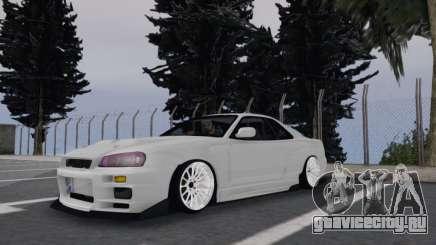 Nissan Skyline R34 White для GTA San Andreas