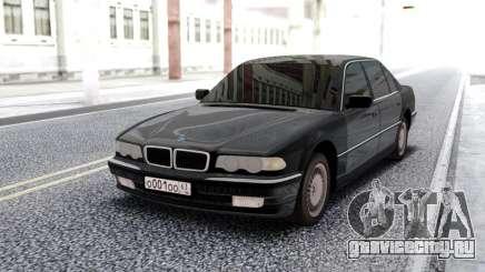 BMW 750i E38 Black Sedan для GTA San Andreas