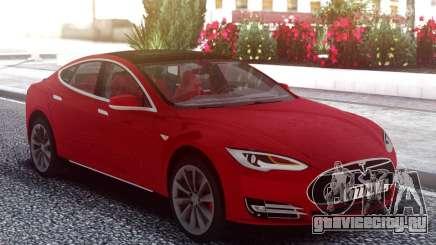 Tesla Model S Red для GTA San Andreas
