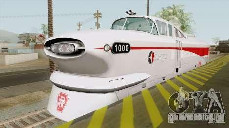 EDM LWT12 Locomotive (GM Aerotrain 1956) для GTA San Andreas